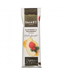Smart fruit snack  raspberry & cranberry 30g